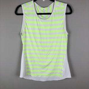 Athleta neon striped stretchy sleeveless top
